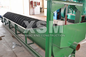 Iron ore spiral classifier